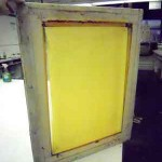 silkscreen with emulsion