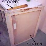 silkscreen and scooper