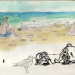 miami beach sketch