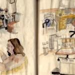 doctor's waiting room sketch 2