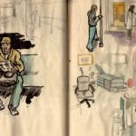 waiting room and subway sketch