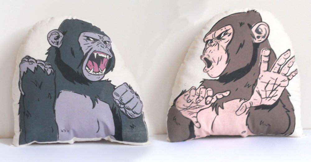 Chimp pillow